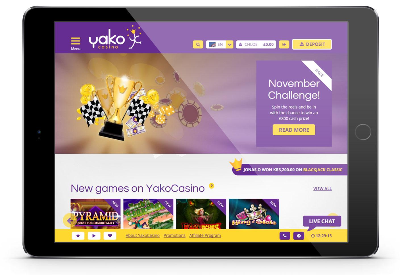 Yako Casino portfolio piece